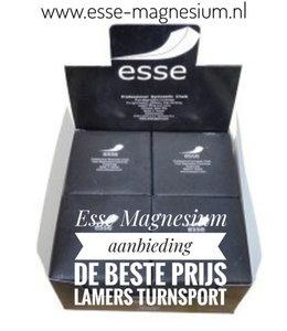 Esse Magnesium aanbieding inhoud 8 blokken per doos van € 16,95 voor € 14,50 www.esse-magnesium.nl www.lamers-tur