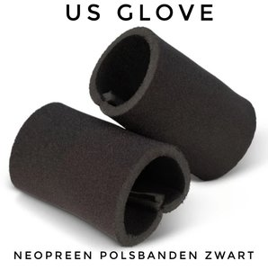 Neopreen polsbanden Zwart US GLOVE www.lamers-turnsport.com