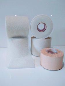 M Wrap kleur beige te gebruiken bij tape allergie en een gevoelige huid www.lamers-turnsport.com